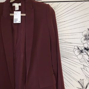 Brand New with Tags** H&M Burgundy Blazer